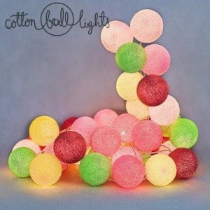 50 kul Candy Cotton Ball Lights