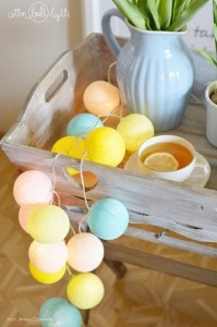 20 kul Verano Cotton Ball Lights