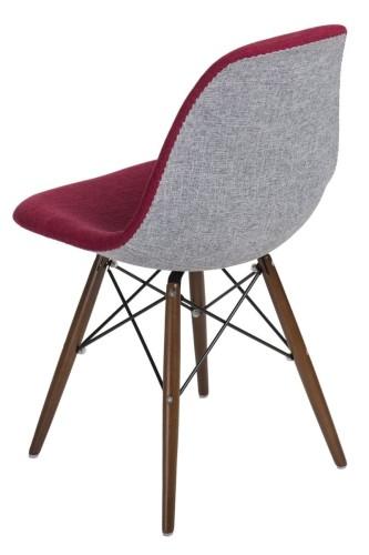 Krzesło P016W Duo ciemne brązowe nogi (czerwono szare) D2