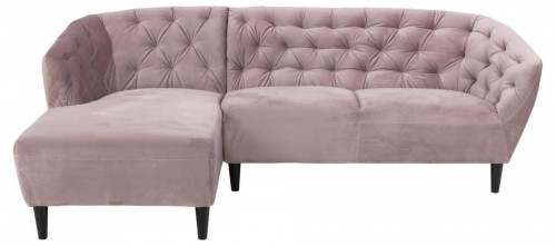 Sofa narożna Ria VIC Dusty rose lewa