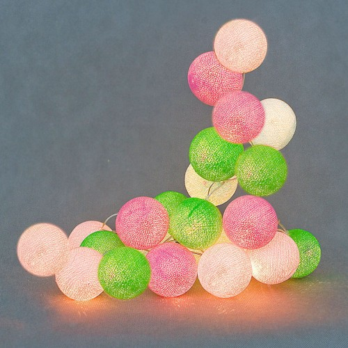 Spring Cotton Ball Lights