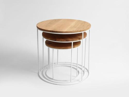 Stół Kawowy Zestaw Trios Solid Wood Różne Kolory Customform