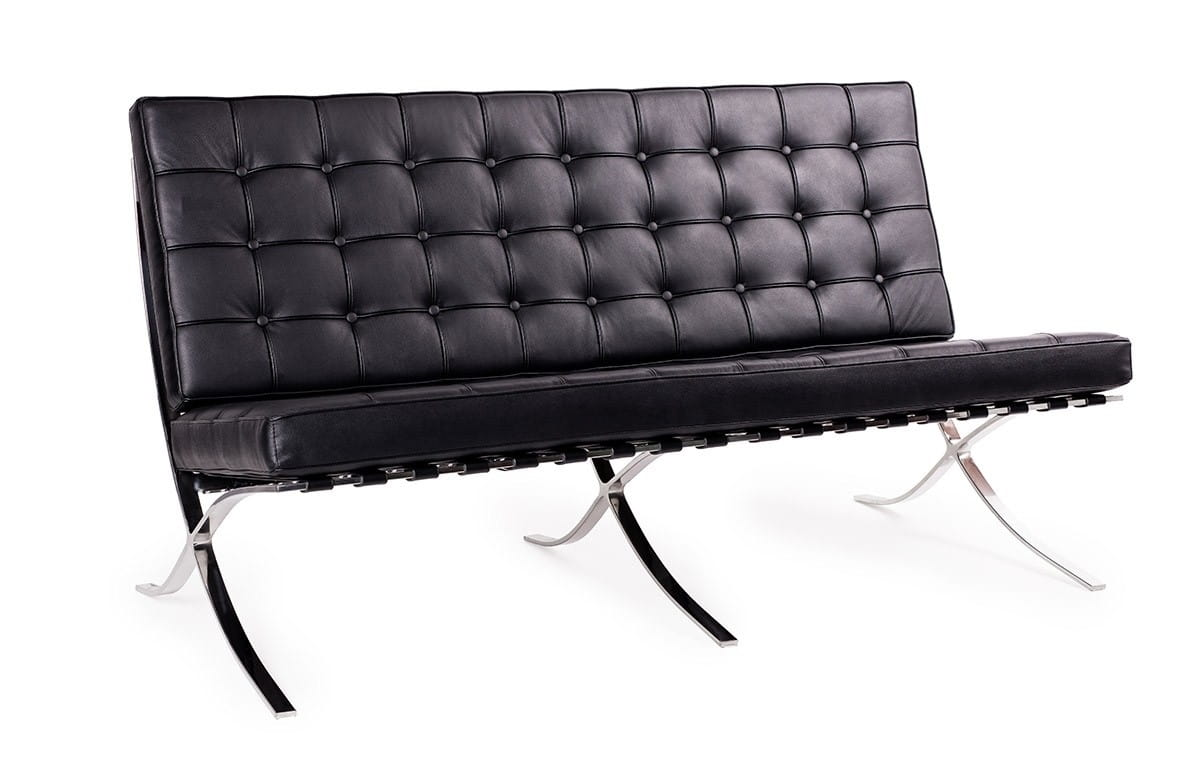 Sofa 2-osobowa Barcelon Prestige Plus (czarna) KingHome