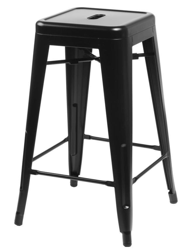 Stołek barowy Paris insp. Tolix 66 cm (czarny) D2