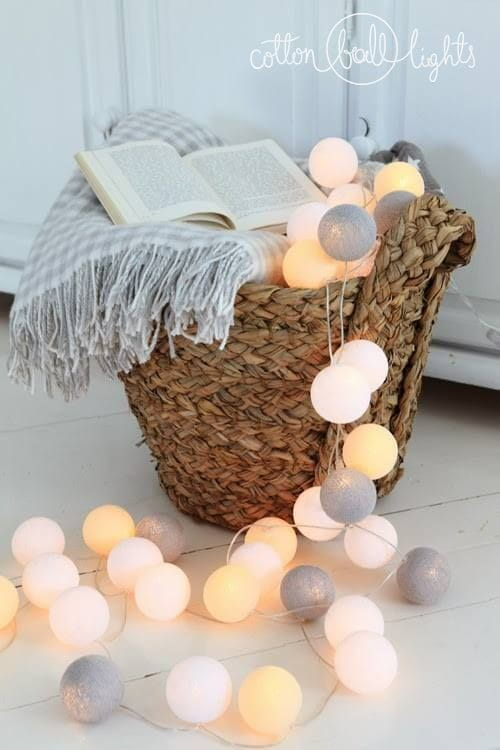 50 kul Green Canoe Cotton Ball Lights