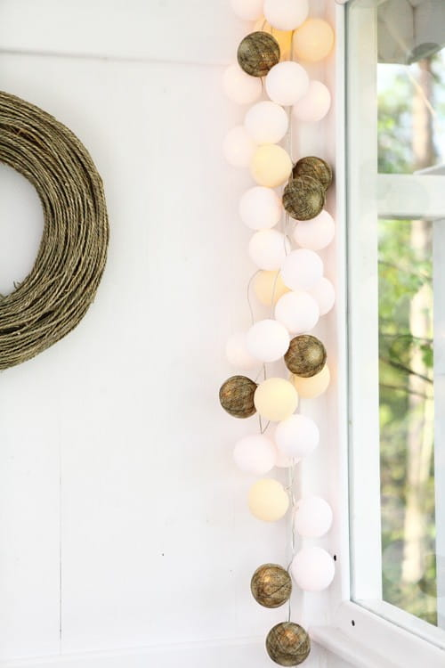 20 kul Natural Cotton Ball Lights